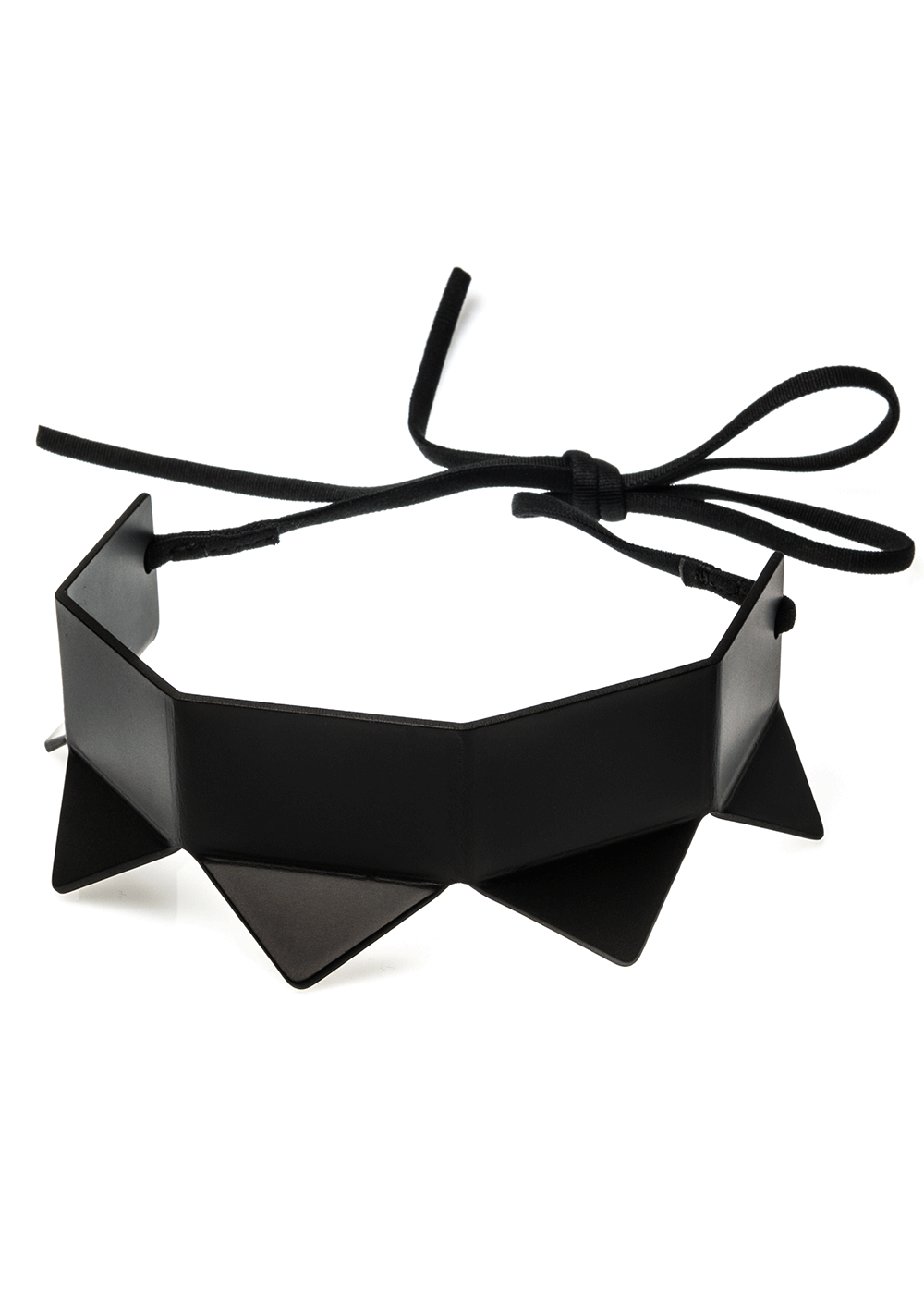 prong neck simple, black