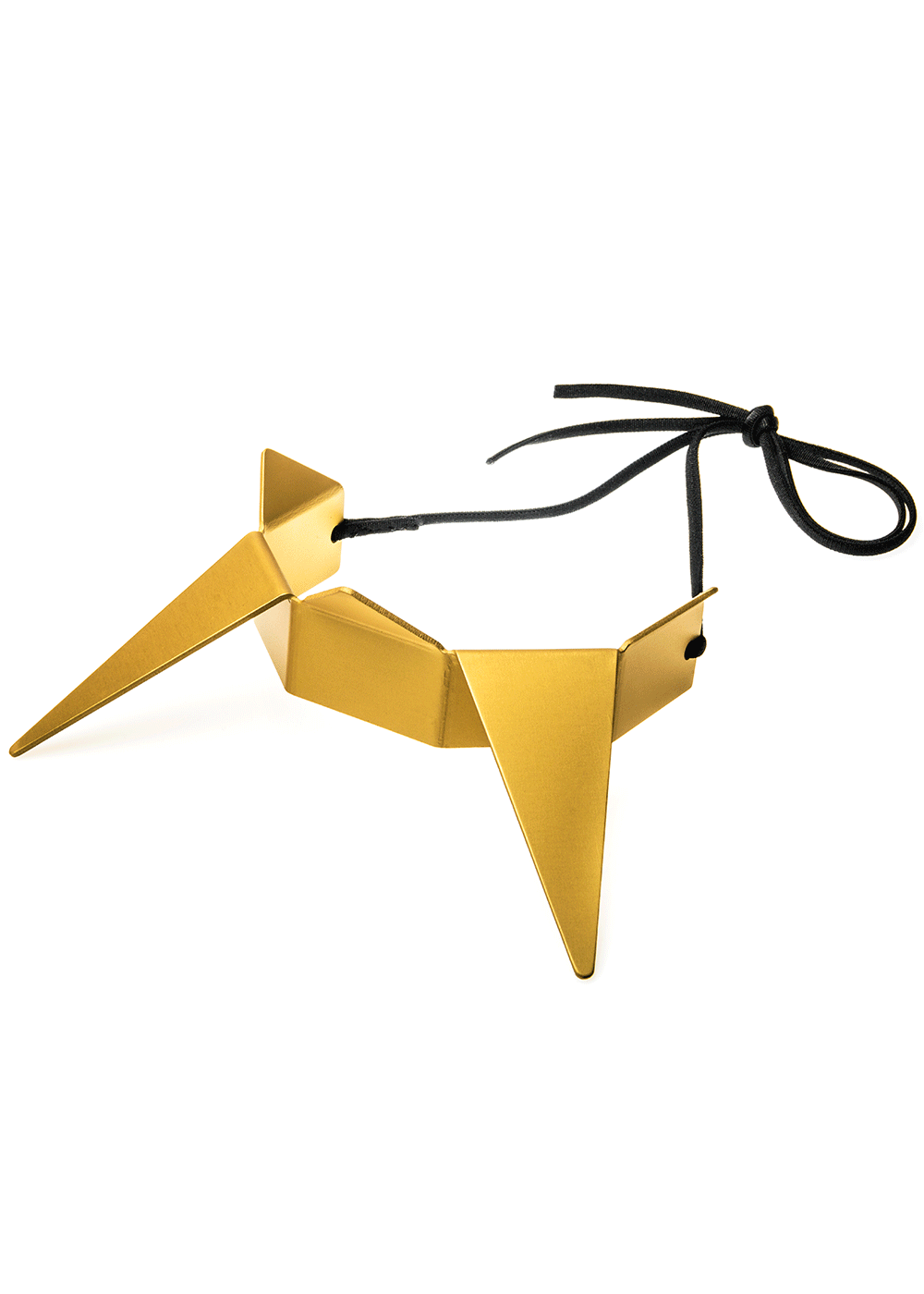 prong neck, gold