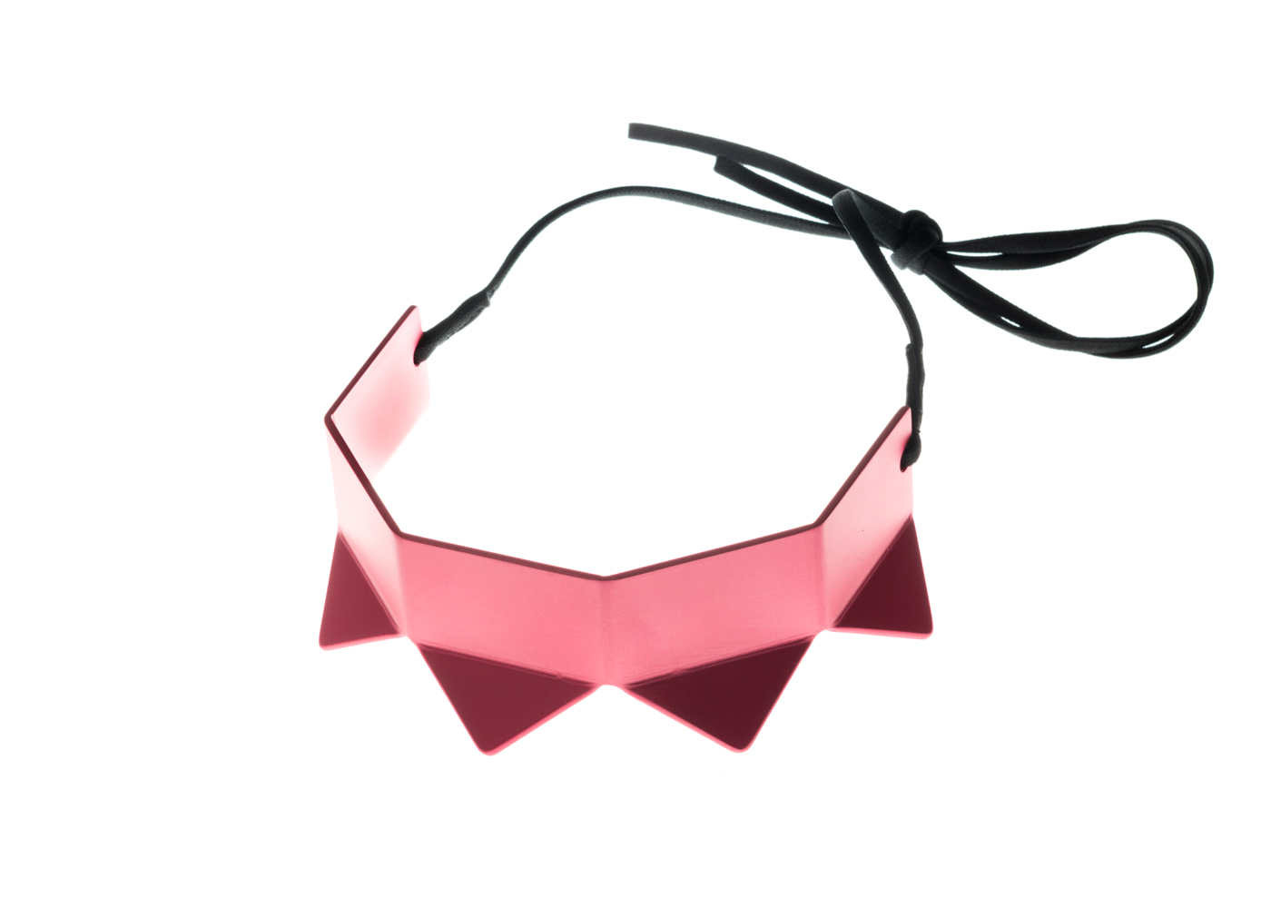 prong neck simple, pink