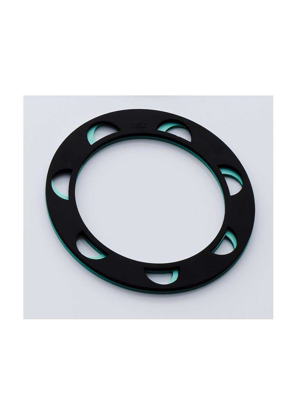 Double Disk Small Bracelet Half Circle