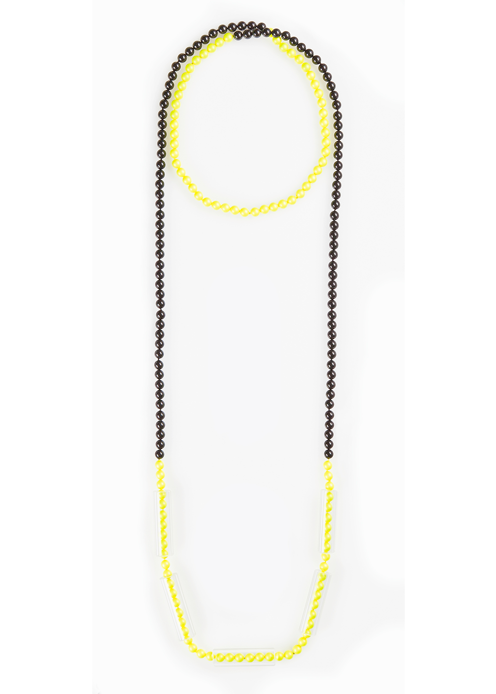 Long Pearl Tube Necklace