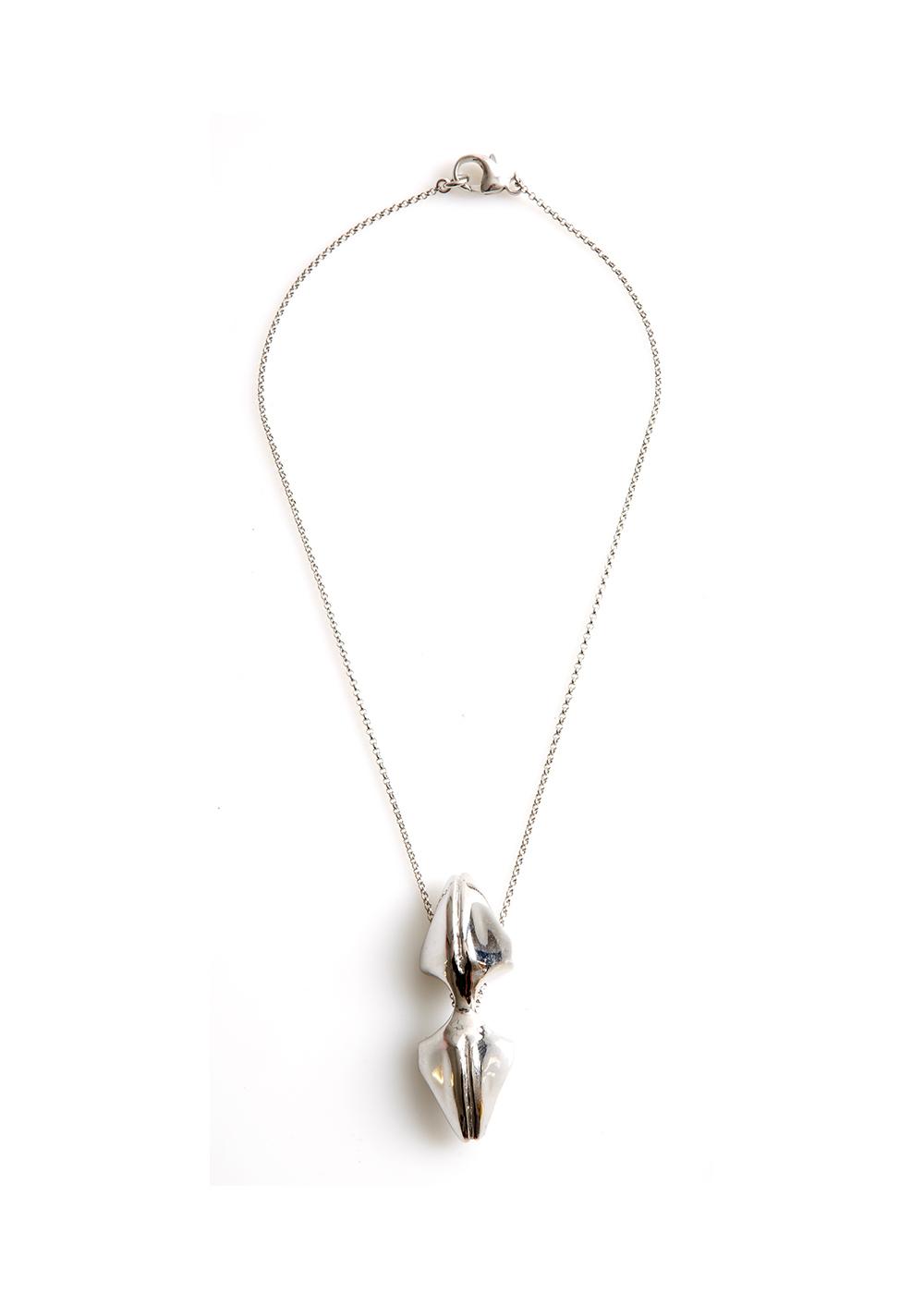 mandibile neck, rhodanized