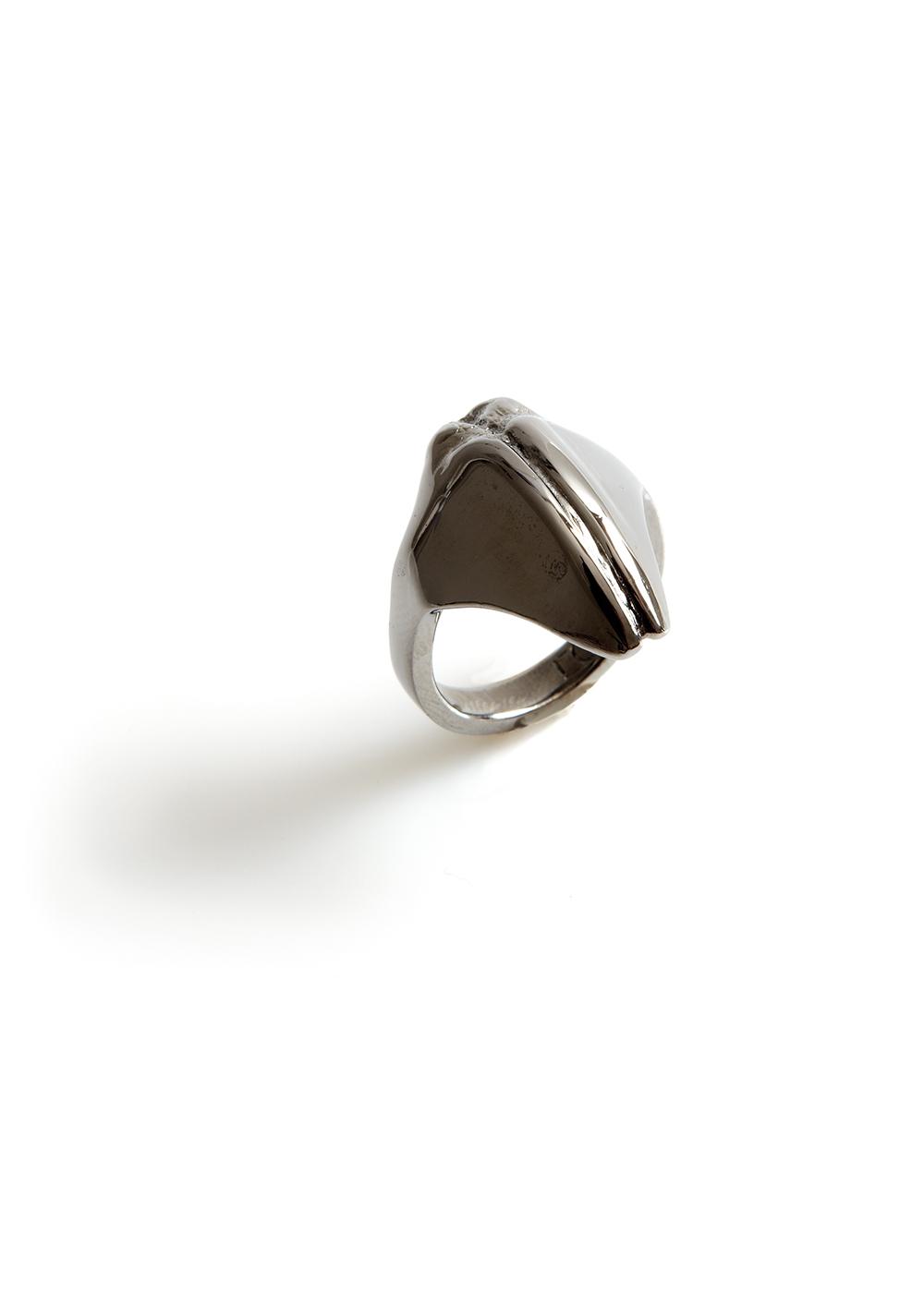 mandibile ring2, black rhodanized