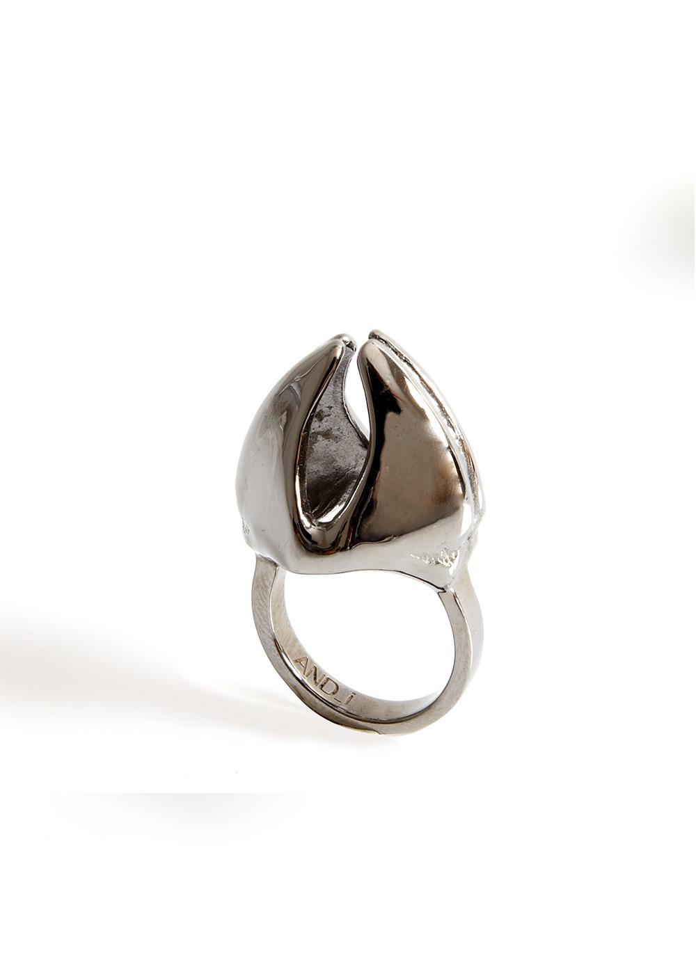 mandibile ring3, black rhodanized