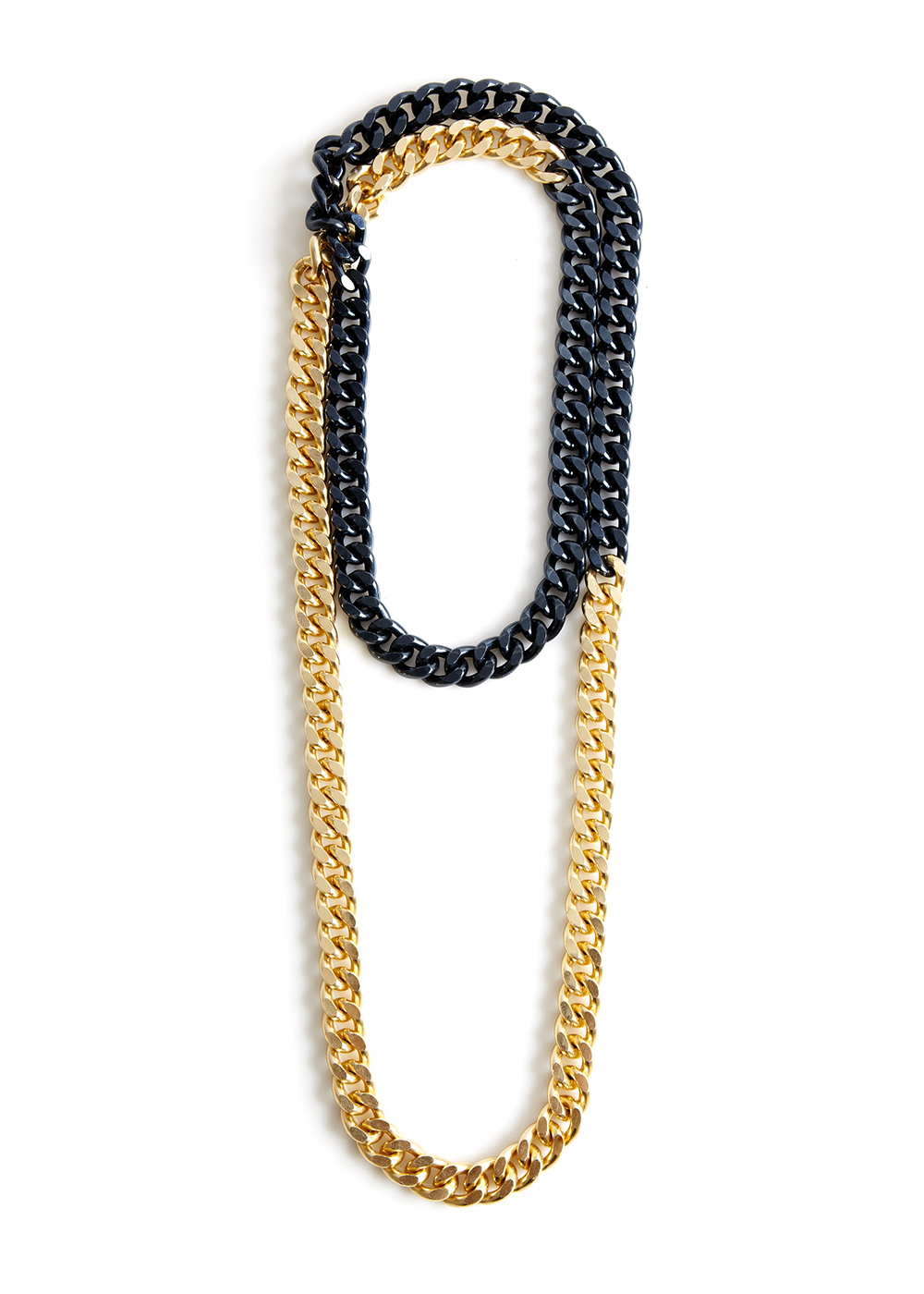 shizo-chain, anthracite / gold