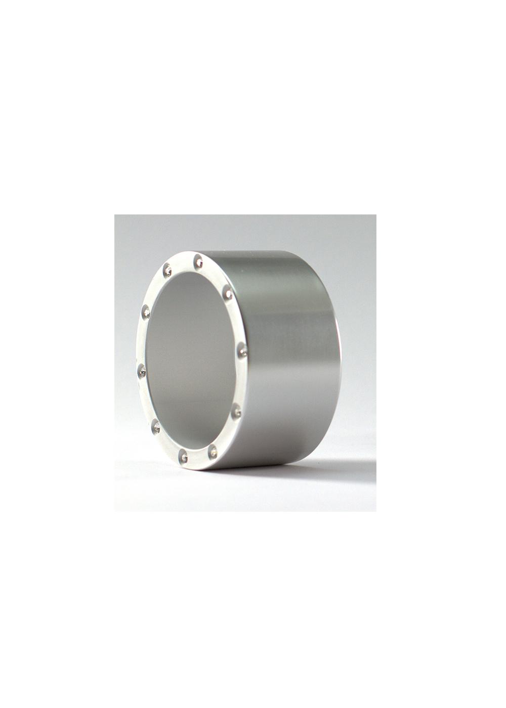 simple bold bracelet bling, silver