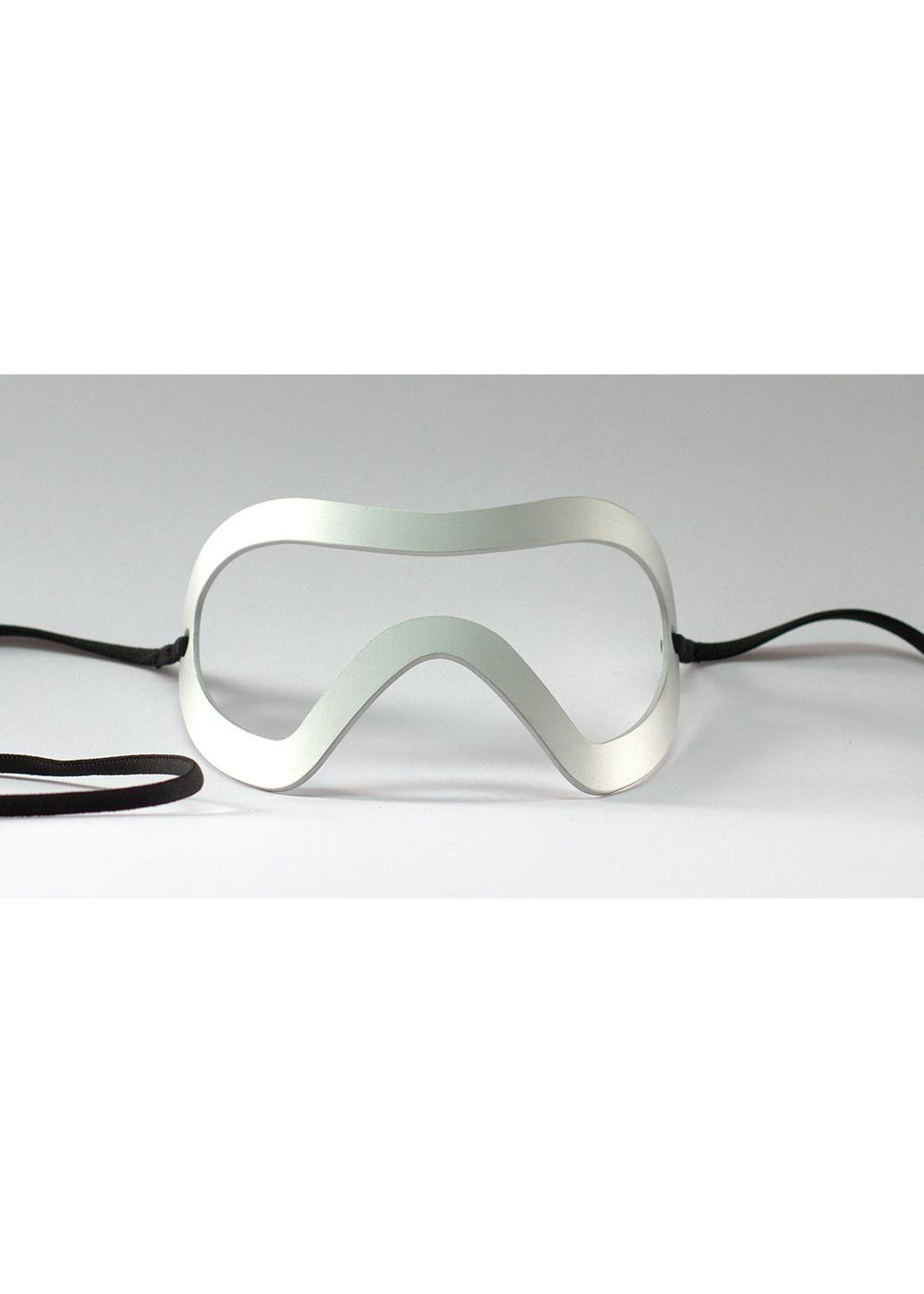 skunk mask, silver