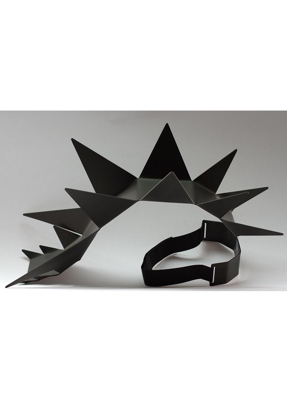 spike headpiece, black