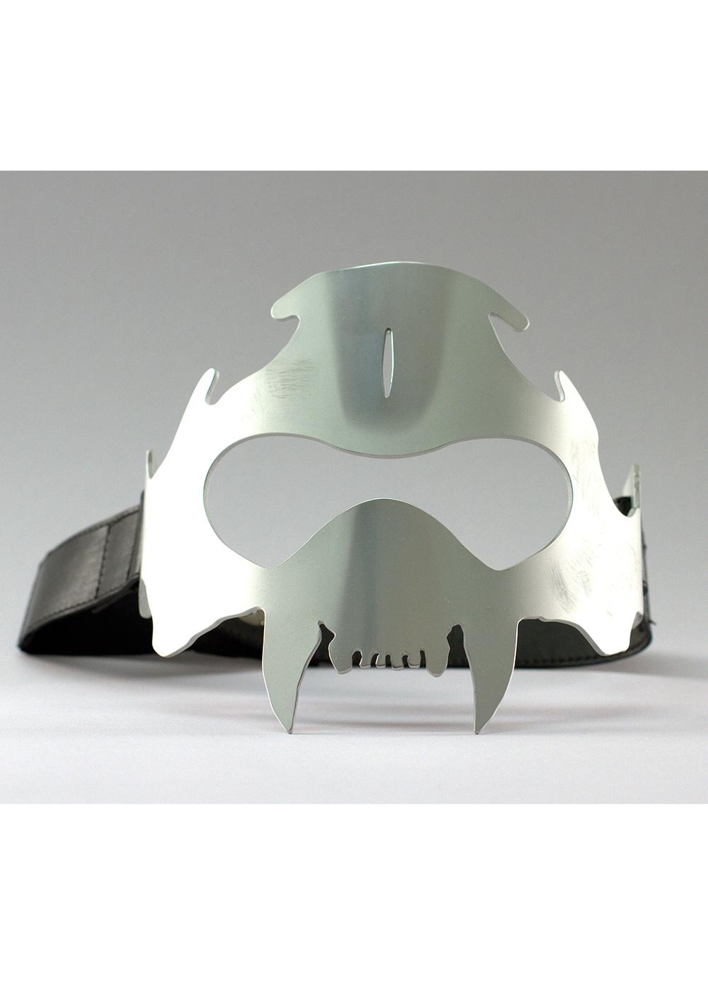 tiger skull mask, silver